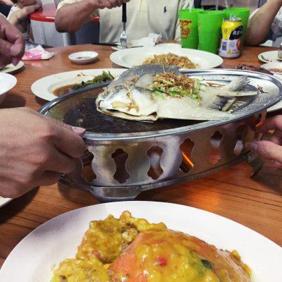 Salted Eggyolk Crab + Steamed Fish?